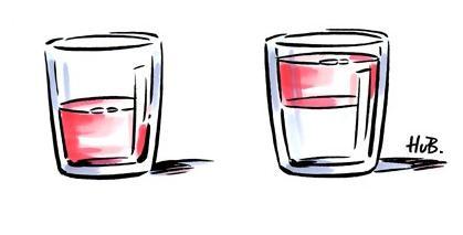 Le verre à moitié vide ou à moitié plein texte de théâtre